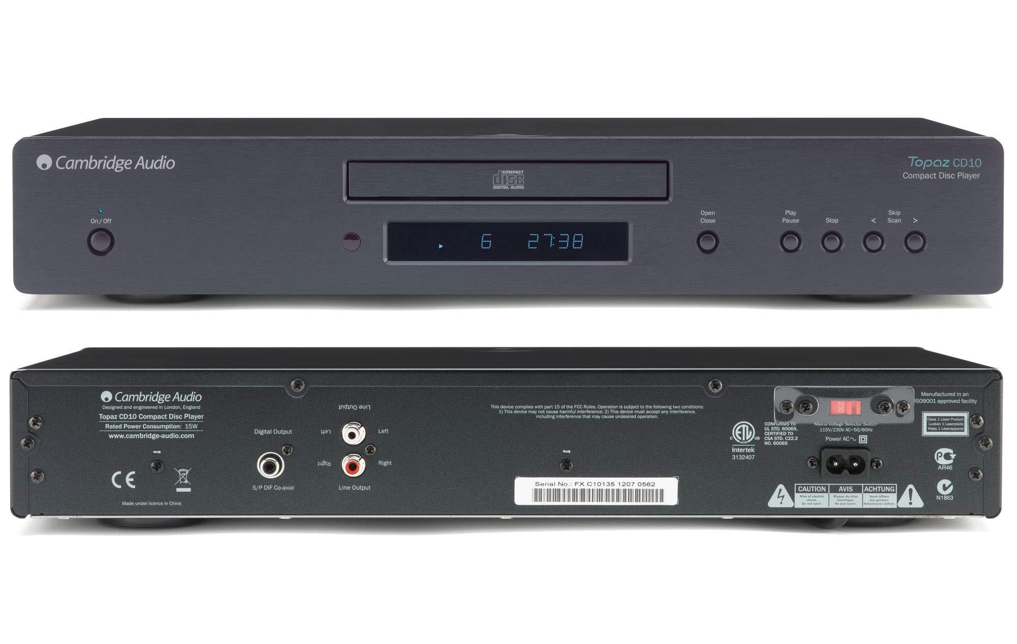 Cambridge Audio Topaz CD10 CD Player - Black by Cambridge Audio