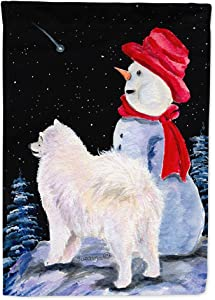 Caroline's Treasures SS8572GF Samoyed Flag Garden Size, Small, Multicolor