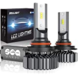 SEALIGHT 9005/HB3 LED High Beam Headlight Bulbs 12000lm Conversion Kit Plug and Play, 9145/H10 Fog Light Bulbs 6000K…