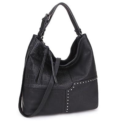 8b16f8c3b2 Womens Large Fashion Shoulder Bag Soft Designer Hobo Bag 3 Tones Patchwork  Handbag