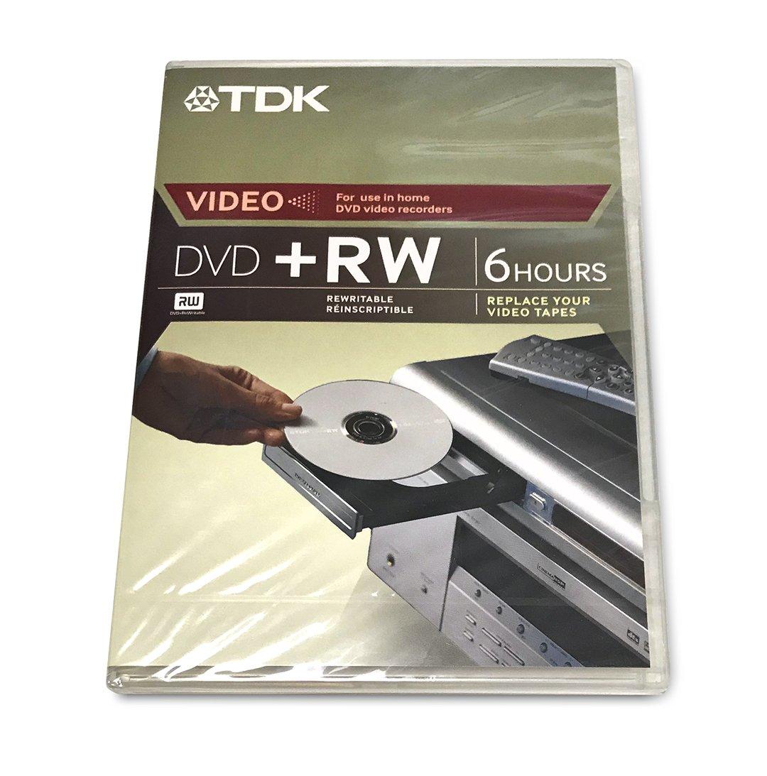 TDK Video 4X DVD+RW 6 Hours 1PK W/ Movie Box Case