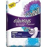 Always Serviettes Discreet Ultra Maxi pour fuites urinaires et incontinence x12