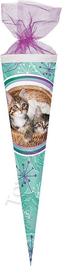 Katze Stubentiger Schultüte Zuckertüte 85cm 6eckig Schulanfang Einschulung