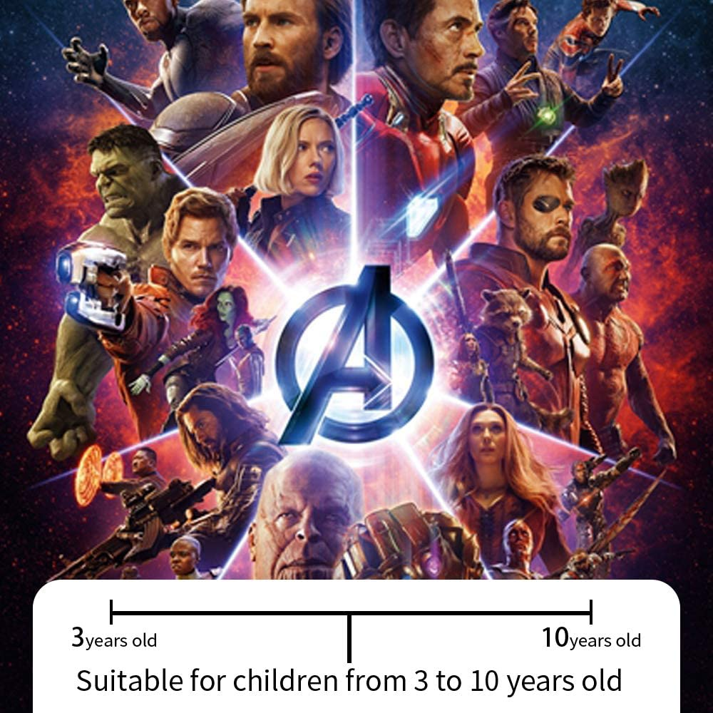 Christmas Childrens 4 Pcs Masks Cosplay Boy Girl Toy Avengers Heroes Mask Spider-Man Thor Suitable for 3 4 5 6 7 8 9 10 Years Old Hulk Iron Man