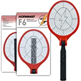 Koramzi Bug Zapper Racket Electric Fly Swatter Mosquito Killer, USB Charging, Zap Mosquito Best for indoor and Outdoor Pest Control, Foldable and Rechargeable (Red)