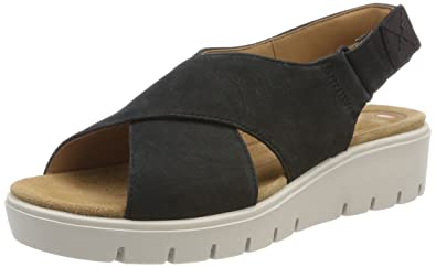 cf7539eb6898 Clarks Women s s Un Karely Hail Sling Back Sandals  Amazon.co.uk ...