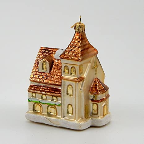 Amazon Com Christmas Church Polish Blown Glass Christmas Ornament