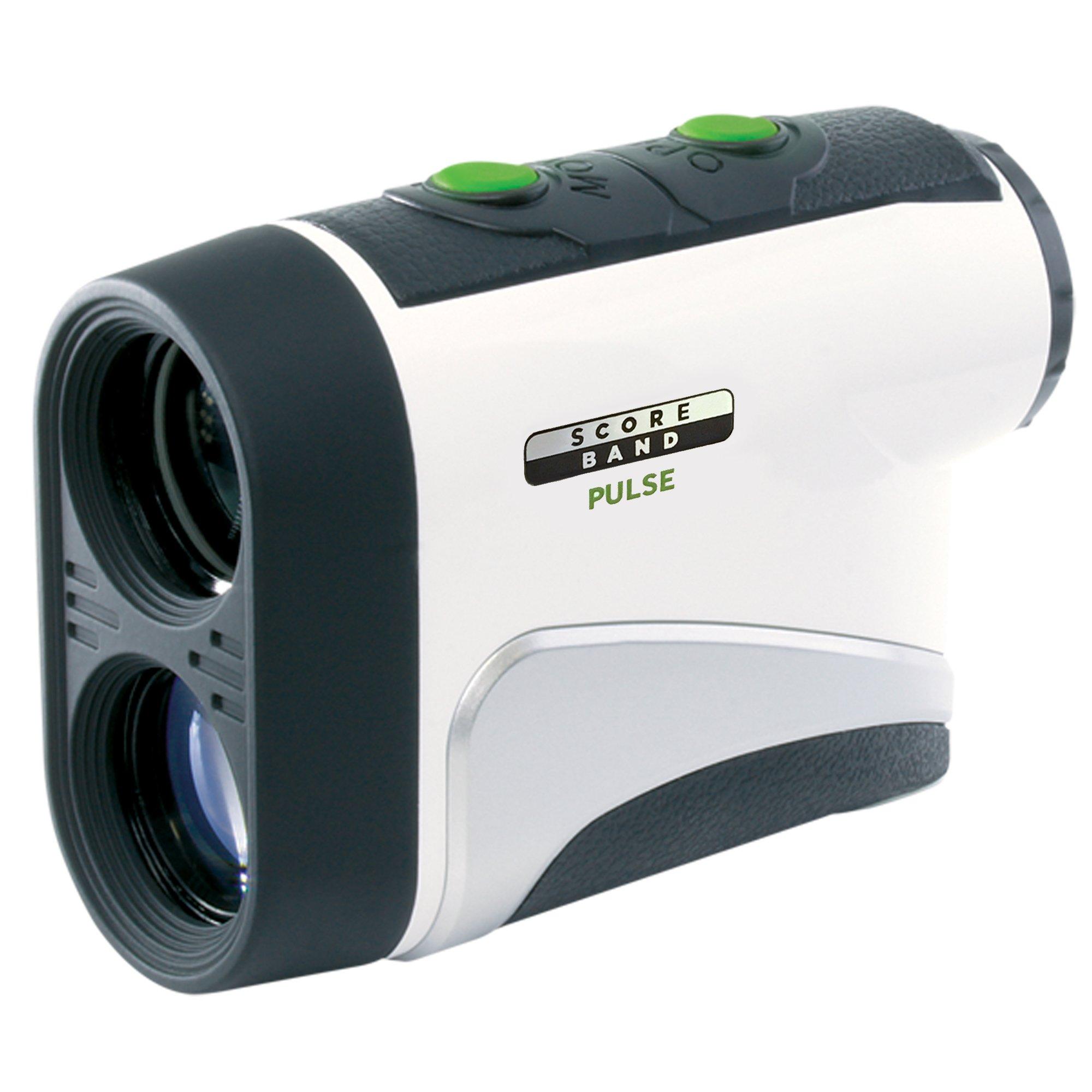 ScoreBand PULSE Compact Laser Rangefinder for Golf, White