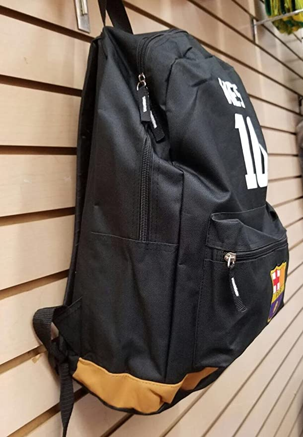 Amazon.com : FC BARCELONA ADULT BACKPACK, MESSI, 2016 Style, Original Merchandise, Great Quality, several compartments : Sports & Outdoors