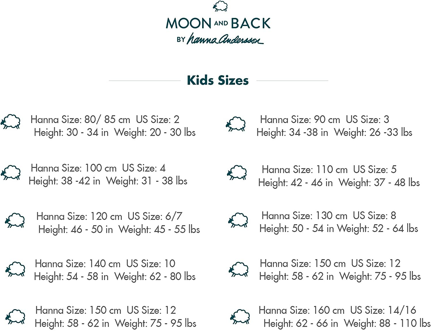 Moon and Back by Hanna Andersson Biancheria intima classica da donna confezione da 5 in cotone biologico