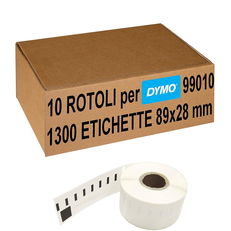 Confezione 10 Rotoli Etichette Adesive Compatibili Per Dymo 99010 89x28 mm (S0722370) 5 Stelle