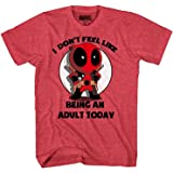 Marvel Deadpool Don't Feel Like Being an Adult T-Shirt Heather Red