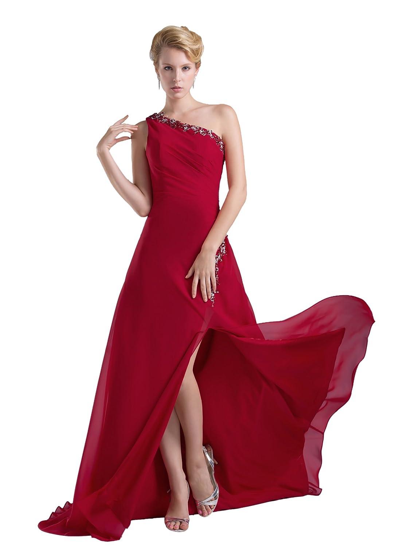 Dresstells Glamourös Damen Kleid Lang Chiffon Abendkleid ...