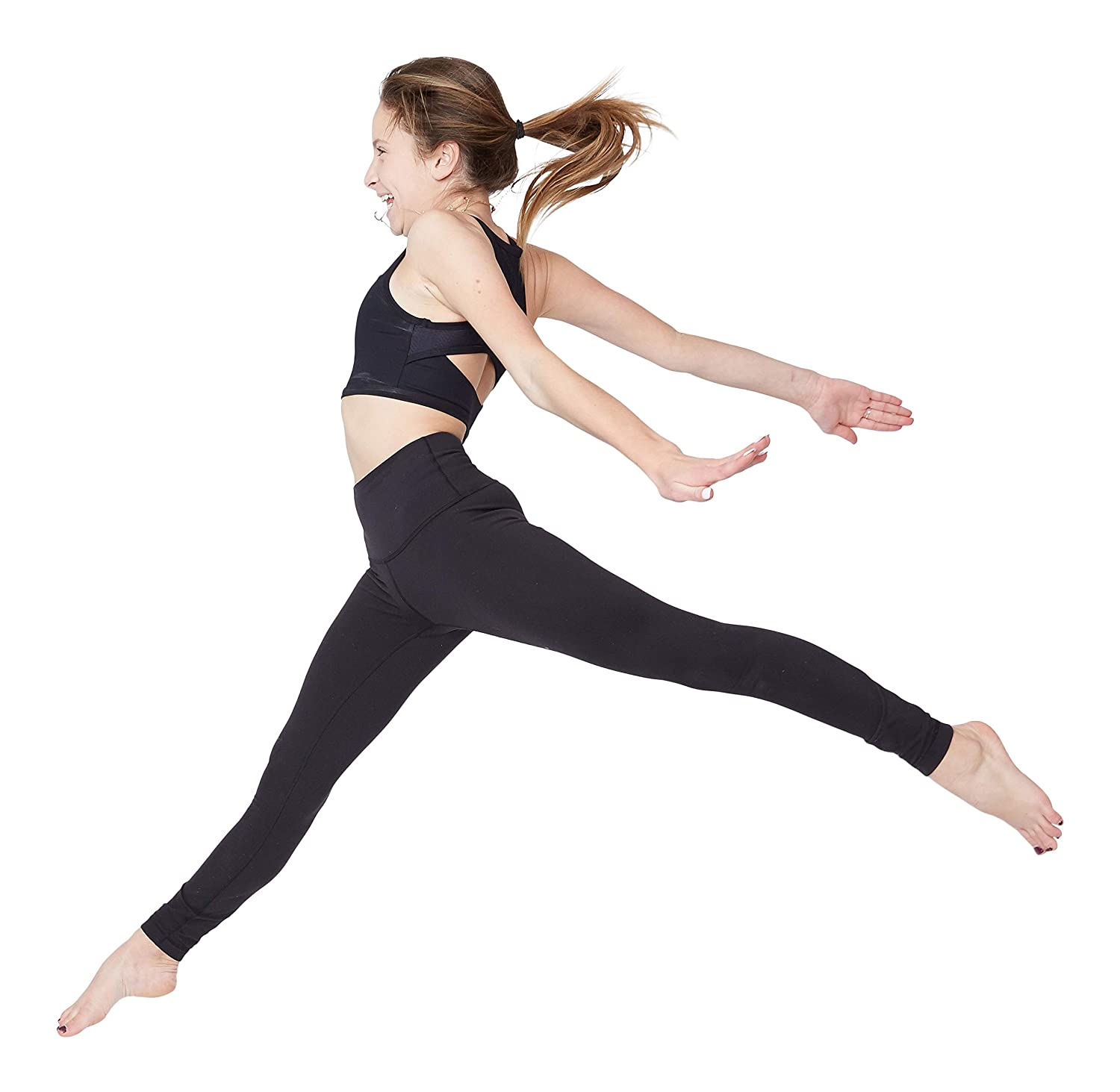 Yellowberry Most Popular Hoop Legging Great Yoga Pants for Tweens and Best for Teen Girls