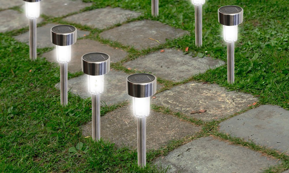 Amazon.com : SolarEK Solar Powered Stainless Steel LED Path Lights, 8 Pack  : Garden U0026 Outdoor