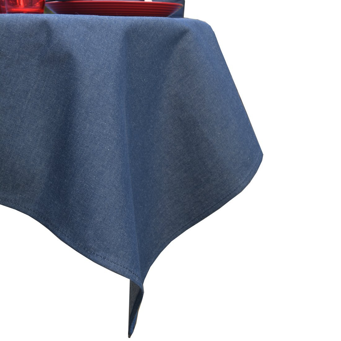 Sweet Pea Linens Blue Denim 54 inch Square Table Cloth