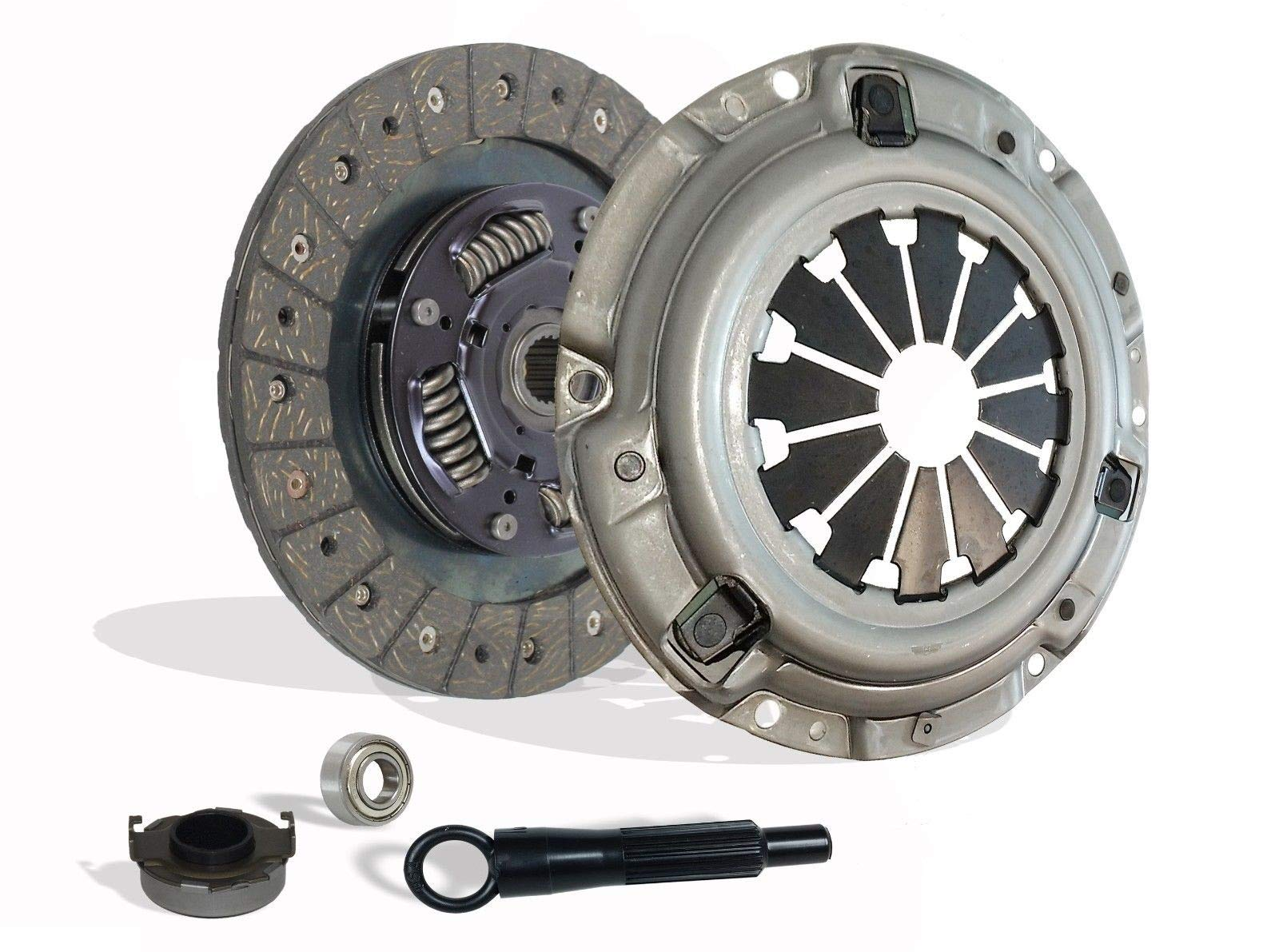 Clutch Kit works with Honda Civic Delsol Acura El DX EX GX LX Reverb VALUE EX-R CX SI VX 1992-2005 1.5L l4 1.6L l4 1.7L l4 GAS SOHC Naturally Aspirated (D15; D16; D17)