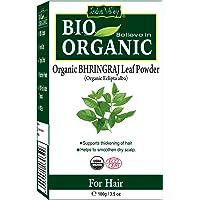 Indus Valley Natural Bhringraj (Eclipta Alba) Leaf Powder For Hair Nourishment & Scalp Treatment