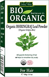Indus Valley Natural Bhringraj (Eclipta Alba) Leaf Powder For Hair Nourishment & Scalp Treatment