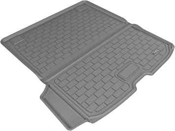 3D MAXpider Front Row Custom Fit All-Weather Floor Mat for Select Volvo XC90 Models Gray Kagu Rubber