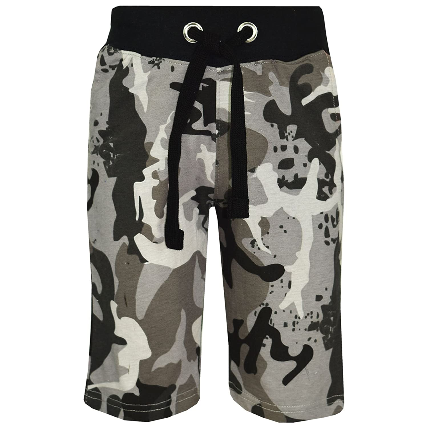 A2Z 4 Kids® Kids Shorts Girls Boys Designer's Charcoal Camouflage Print Cotton Chino Shorts Casual Knee Length Half Pant Age 5 6 7 8 9 10 11 12 13 Years