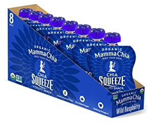 Mamma Chia Organic Vitality Squeeze Snack, Wild Raspberry, 3.5 Ounce (Pack of 16)