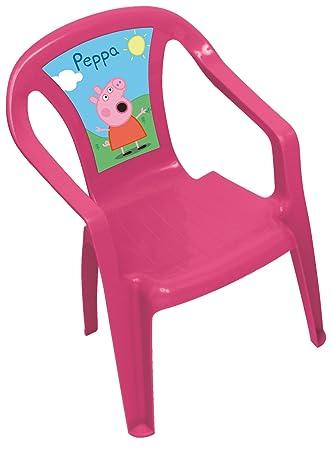 ARDITEX PP7819 - Silla de plástico Monoblock, diseño Peppa Pig