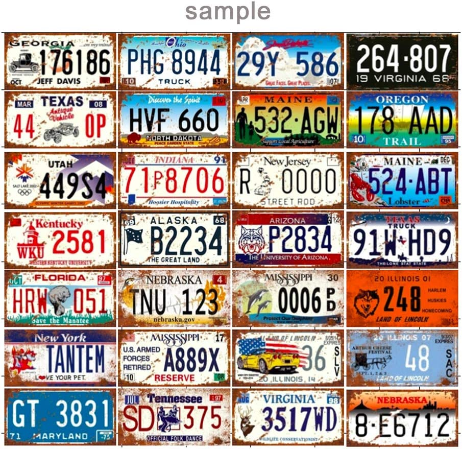 RETIRED EMBOSSED METAL NOVELTY LICENSE PLATE TAG
