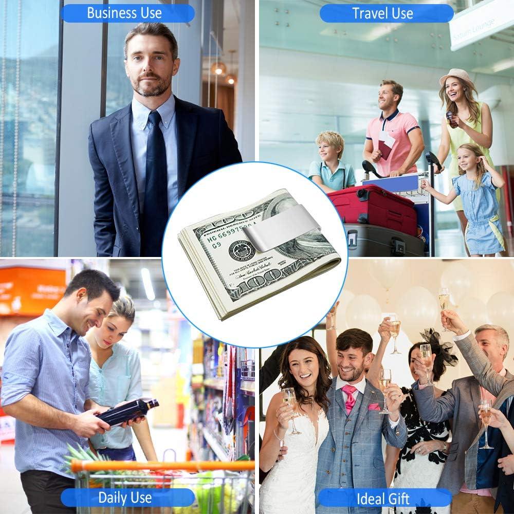 12 Pcs Pince /à Billets en m/étal Pince /à Billets en m/étal pour Hommes Pince /à Billets pour Portefeuille Argent Homme Fixe Portefeuille Cartes Ticket Document Important Stylo Cadeau