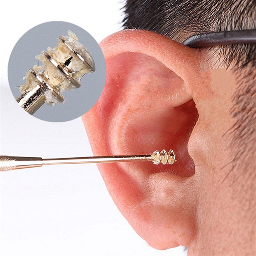 SOURBAN Stainless Steel Double-ended Ear Pick Helix Ear Wax Removal Cleaner