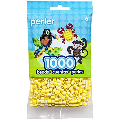 Perler Striped Bead, Buttercream, 1000/Pack: Arts, Crafts & Sewing
