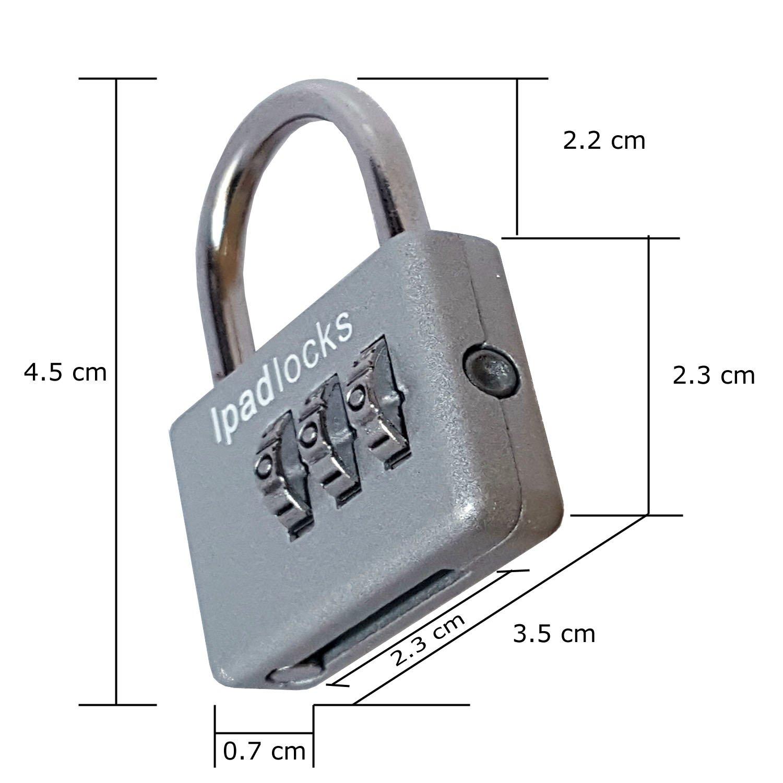 Ipadlocks - Small Resettable Combination Padlock With Bonus Wire Cable