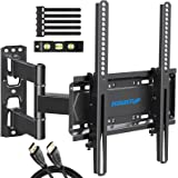 MOUNTUP TV Wall Mount, Single Stud TV Mount Swivel and Tilt Full Motion for 26-55 Inch Flat Screen/Curved TVs, Universal Arti
