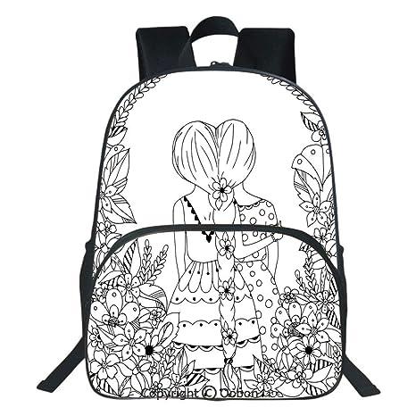 Oobon Mochila Impermeable Para Niños Con Diseño De Dibujos
