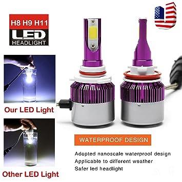 H11 H8 H9 LED faro bombilla Kit de luz de cruce/luz de niebla super