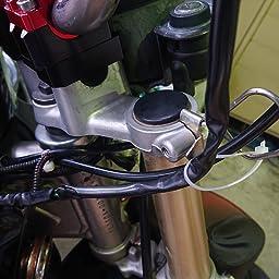 Amazon 汎用 mm オフセット ハンドルポスト クランプ径 22 2mm 28 0mm アルミ削り出し シルバー 車 バイク 車 バイク