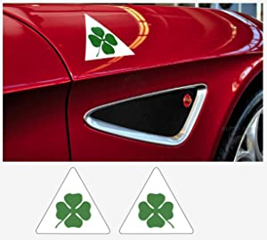 Alfa Romeo decal side decal set Quadrifoglio Verde 2 pcs. L+R 12 cm (white Ð green)