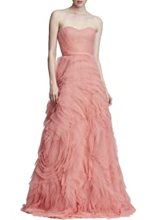 ca76d38174d4 Marchesa Notte Women's Strapless Embroidered Hi_Lo Gown at Amazon ...