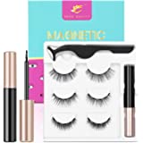 2020 Upgraded Magnetic Eyelashes and Eyeliner Kit, Magnetic Eyeliner with Natural Look Reusable Premium Magnetic…