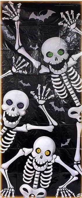 Halloween Skeleton Decoration Door Cover (30u0026quot; ... & Amazon.com: Halloween Skeleton Decoration Door Cover (30