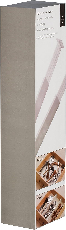 Premier Housewares Juego de 2 separadores de cajones Color Blanco