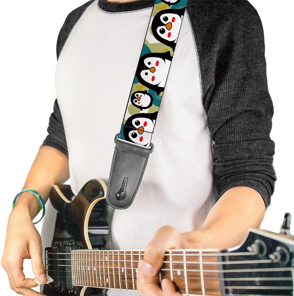 Cute Penguins All Over  Guitar Strap