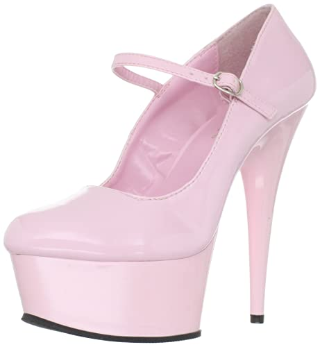 7fea4129bc0 Pleaser Women's Delight-687/BP/M Platform Pump,Baby Pink,6 M US ...