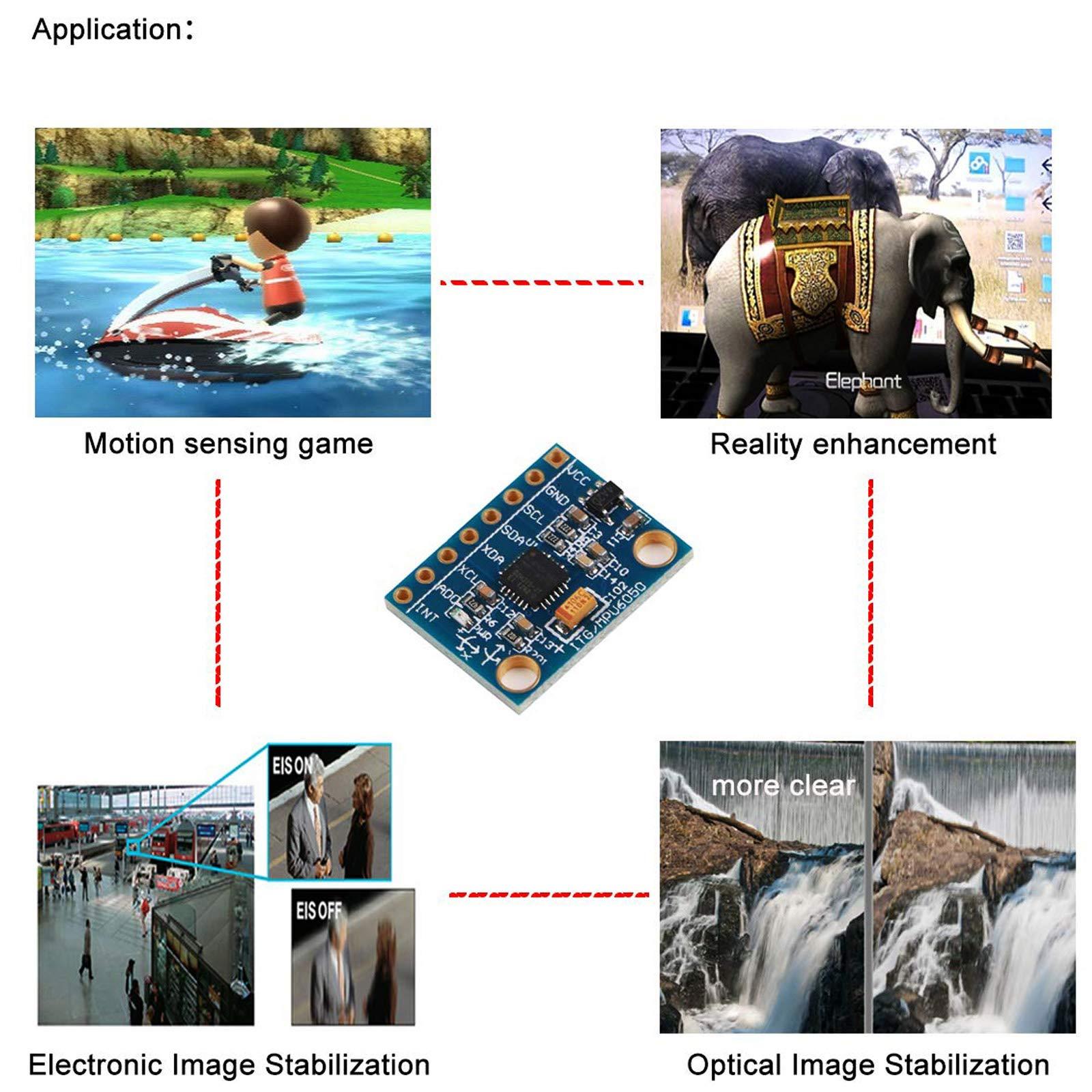Gy-521 MPU-6050 MPU6050 Module 3 Axis Analog Gyro Sensors+ 3 Axis Accelerometer Module by Generic (Image #5)