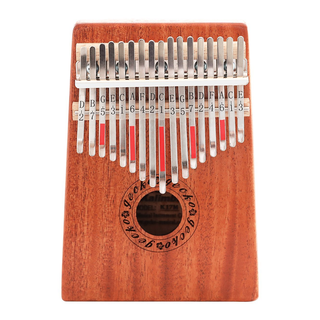 GECKO Kalimba 17 Key with Mahogany Wooden, 17 Note Thumb Piano With Tuning and Note Layout For Playing Western Melodies and Harmonies Easily 4336351395
