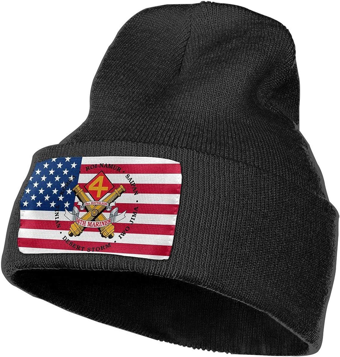 3rd Battalion 14th Marines Men/&Women Warm Winter Knit Plain Beanie Hat Skull Cap Acrylic Knit Cuff Hat
