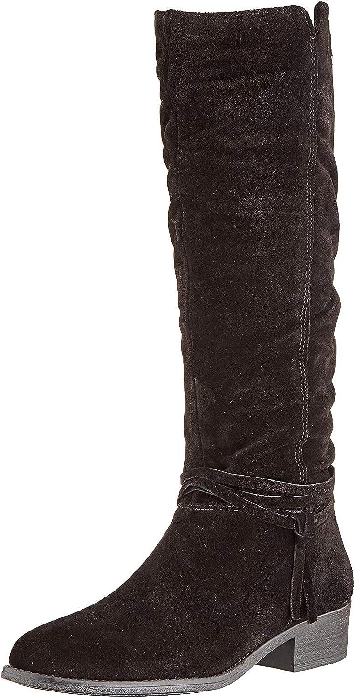 Tamaris Damen 1-1-25561-23 Hohe Stiefel Schwarz Black 1