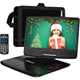 "HDJUNTUNKOR Portable DVD Player with 10.1"" HD Swivel Display Screen, 5 Hour Rechargeable Battery, Support CD/DVD/SD Card…"