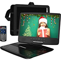"""HDJUNTUNKOR Portable DVD Player 12.5"""" with 10.1"""" HD Swivel Display Screen, 5 Hour Rechargeable Battery, Support CD/DVD…"""