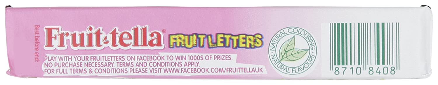 Amazon com : Fruit Tella Strawberry Flavoured Chewy Sweets 41 G